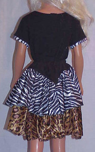 MSB Zebra & Leopard Tiered Skirt w Yoke & Top back