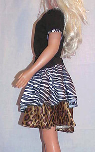 MSB Zebra & Leopard Tiered Skirt w Yoke & Top side