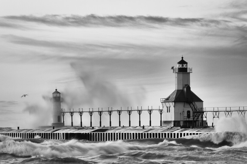 St. Joseph Light, Lake Michigan.