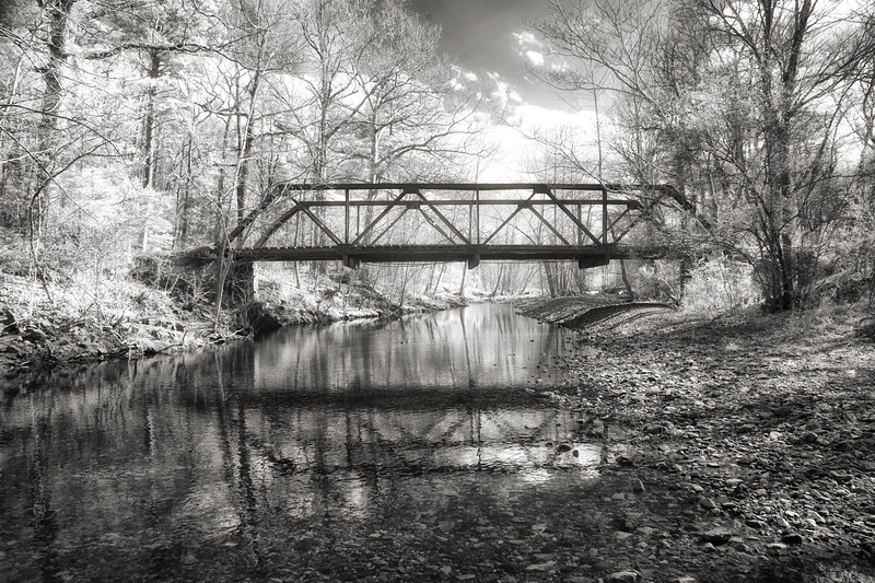 Old Iron Bridge - Butcher Knife Creek - Bigfork, Arkansas - Spring 2018