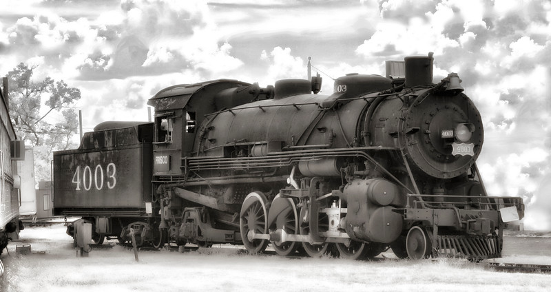 Frisco 4003 Steam Engine - Fort Smith Trolley Museum - Fort Smith, Arkansas