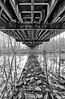 The parting of the River - Underneath an Old Iron Bridge - Arkansas
