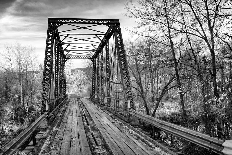 Big Creek Bridge - Old Iron Bridge - Ouachitas of Oklahoma