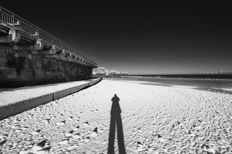 SANDSEND BEACH AND MY SHADOW