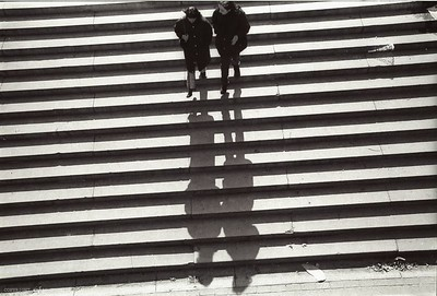 Shadows going downstairs in Central Park, New York 2001