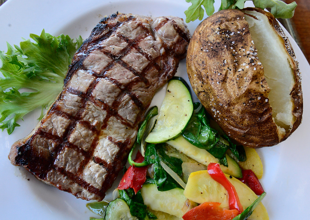 """. The \""""Excelsior\"""" 8 oz Braveheart NY Strip Steak at the Black Diamond restaurant in Lafayette on Tuesday March 6, 2018. Paul Aiken Staff Photographer March 6 2018"""