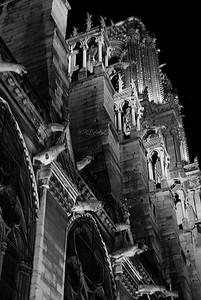 Vista nocturna, Notre Dame, Paris