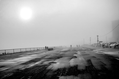 FOGGY BOARDWALK