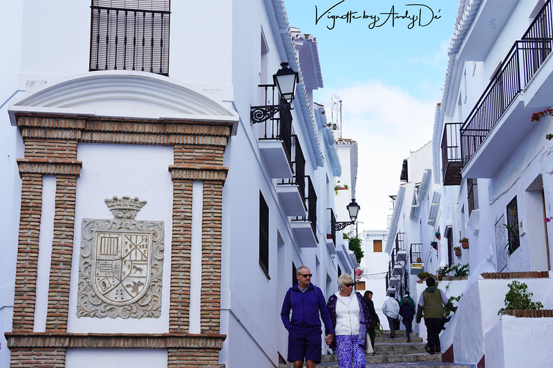 As you wander up the hillside through the cobbled streets, past the white houses with doors painted an array of pastel colors, past tiny nooks and crannies and viewpoints that offer glimpses of the surrounding countryside and the coast below, you can fully understand why FRIGILIANA is considered by many to be one of the most beautiful villages in Andalusia. FRIGILIANA has consistently been voted as the 'prettiest village in Andalusia' and 'one of the most beautiful villages in Spain' by the Spanish tourism authority.