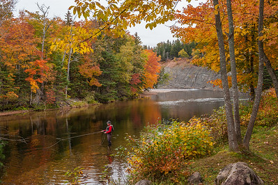 Autumn scenery in the Margaree Valley and along the Margaree River on Cape Breton Island