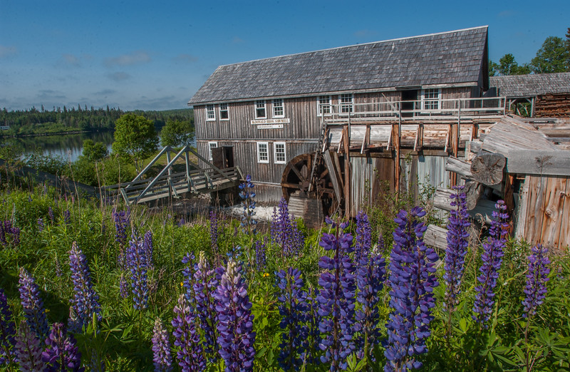 The MacDonald & Sons sawmill is one of about forty 19th century wooden homes and business perserved as a living museum at Sherbrooke Village on the eastern shore of Nova Scotia.