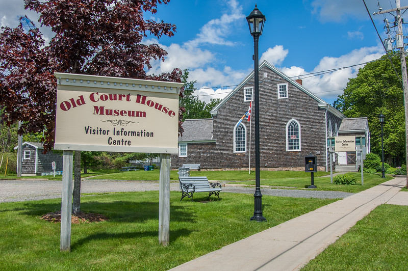 The Old Court House Museum and visitor information centre in the town of Guysborough