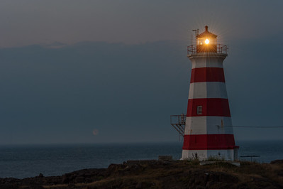 Nighttime decends on Western Light  on Brier Island at the end of Digby Neck in southwestern Nova Scotia