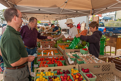 The Farmers' Market in Annapolis Royal is a busy place on Saturday mornings from late Spring to early Fall