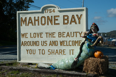 The annual Scarecrow Festival in the town of Mahone Bay