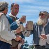 Images of a re-enactment of the Acadian Expulsion during opening ceremonies for the Clare Acadian Festival on Major Point road in Belliveau's Cove in Clare