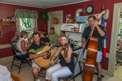 Christal Thibault and friends perform at Chez Christophe, a popular restaurant in Clare along the French Shore. The music is part of the annual series of Acadian Kitchen Parties called Musique de la Baie held at various restaurants in Clare throughout the summer
