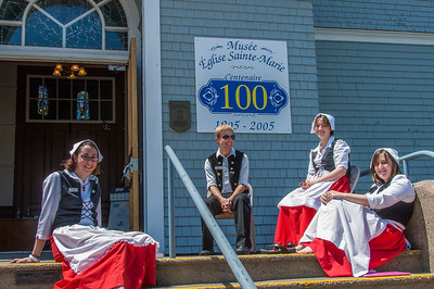 The church of St. Anne's, the largest wooden church in North America, is open to visitors and interpreters clad in traditional Acadian constume are anxious to tell the history of the church and the village of Church Point on the French Shore in Clare