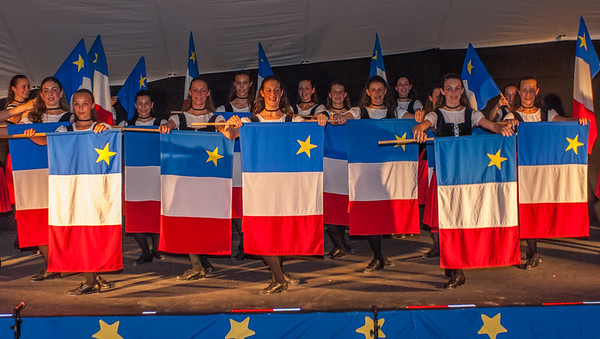 La Baie en Joie dancers perform at the opening concert for the Clare Acadian Festival