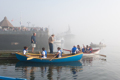 Dockside activity during the 'rum runner' races at the Seafest Celebration in the town of Yarmouth