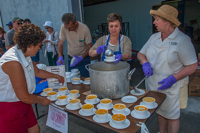 Yarmouth ladies serve up  fresh homemade seafood chowder during the annual Yarmouth Seafest