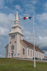 Eglise Sacre Coure Catholic church in Saulnierville, site of the quilt show that is part of the annual Festival Acadien de Clare