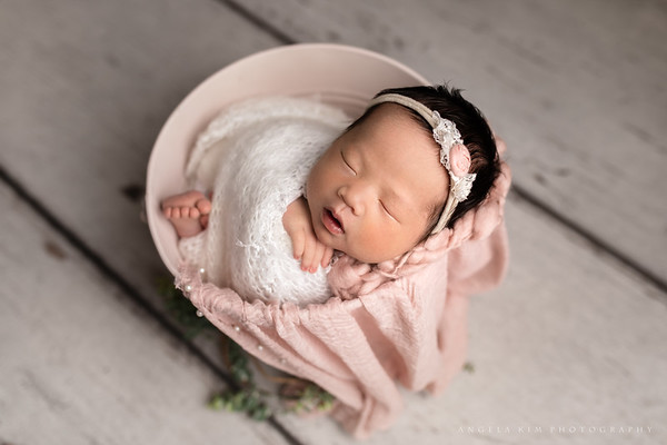 Rockwall TX Newborn Photographer, Rockwall Photographer, Pink Newborn Girl Session,  Rustic newborn baby girl session, newborn girl poses, Rockwall Family Photographer