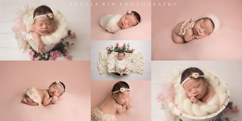Blush and Cream Newborn Session