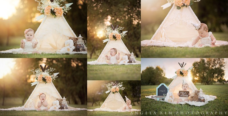 1 year shabby chic photo session