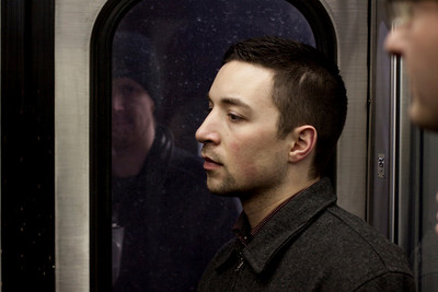 John Condic on the Metra in Chicago, Illinois on February 19, 2011.  (Jay Grabiec)