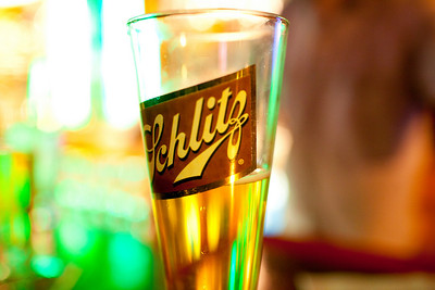 A half pint of Schlitz at Schubas Tavern in Chicago, Illinois on February 19, 2011.  (Jay Grabiec)