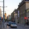 Evening street scene in Caen.