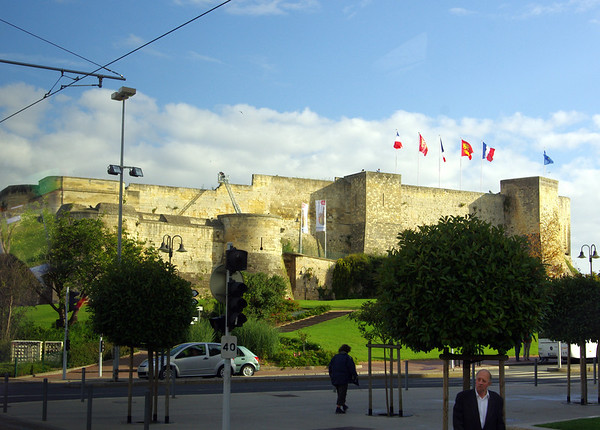 Castle in Caen, France erected by William of Normandie about 1000 years ago.
