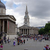 Part of Trafalgar Square. Art museum on left.