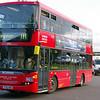 Classic double-decker London bus.