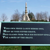 This and other signs with poignant messages are posted around the cemetery where the casualties of the Battle of Gettysburg lay in eternal repose.