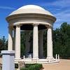 Portico housing Gen. Eisenhower statue.