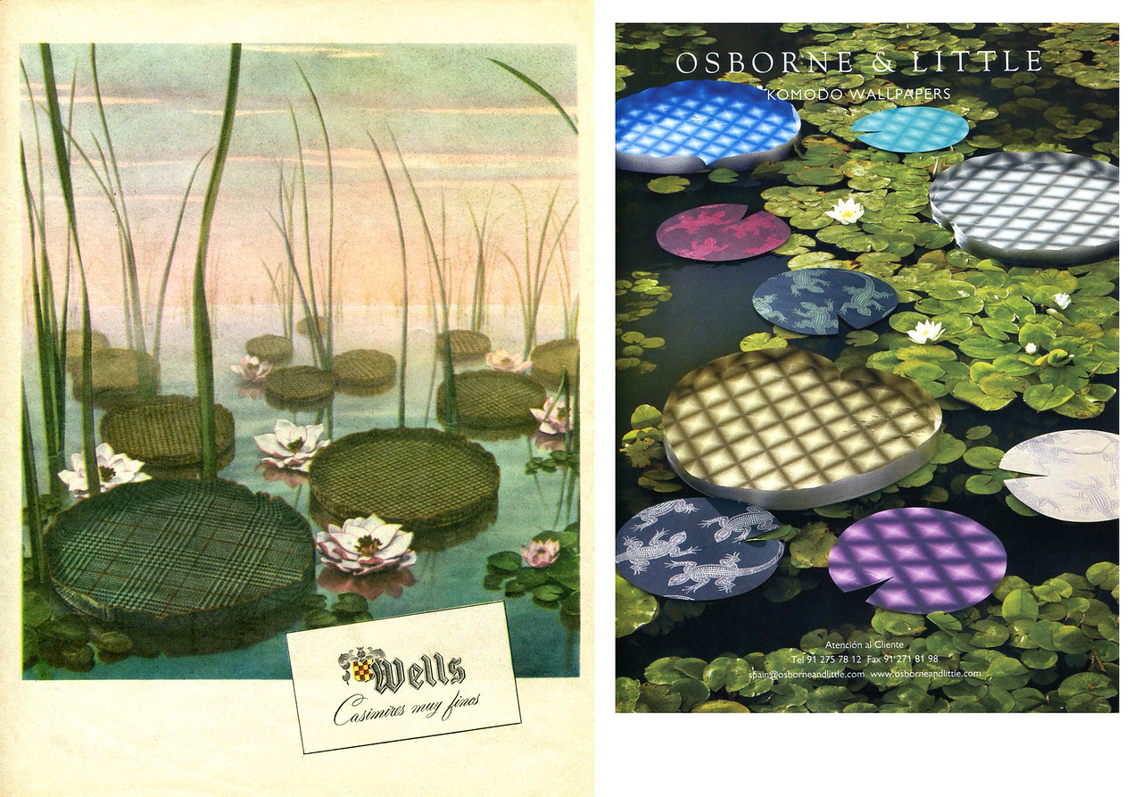 1951 WELLS lfabrics (Argentina, Para Ti) vs 2011 OSBORNE & LITTLE wallpaper (Spain, Elle Decor)
