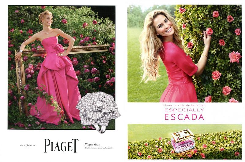 2012 PIAJET jewelry ad featuring Sasha Pivovarova vs 2012 ESCADA fragrance ad featuring Bar Refaeli