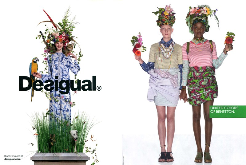 2018 DESIGUAL spring-summer collection 2018 ad vs BENETTON spring-summer collection 2018 ad
