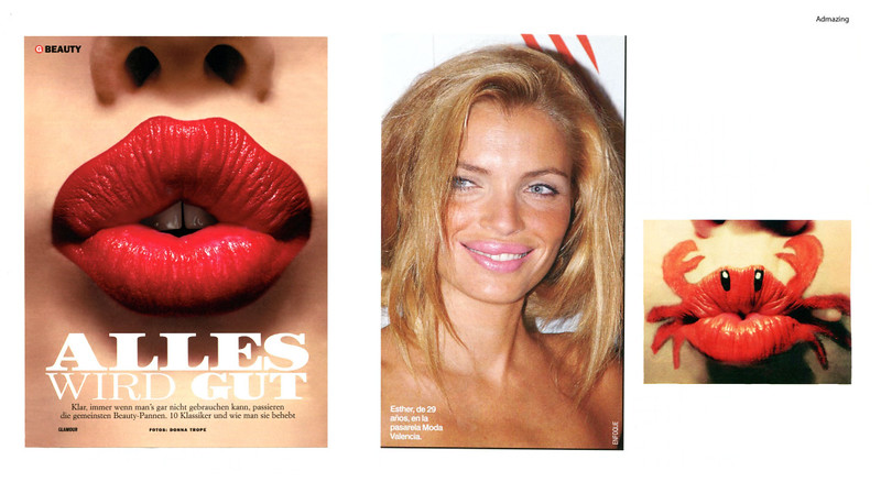'CrabbyLips' collage by Stray