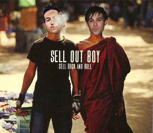 SELL OUT BOY Sell Rock & Roll  (digital collage, 2013)