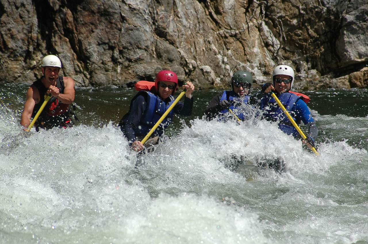 Whitewater rafting on the North Fork of the Stanislaus River.