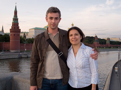 First time together in Moscow... First time back in Moscow after 15 years...