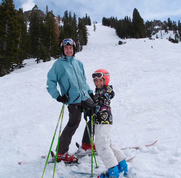 May 30, last day of skiing at Squaw Valley USA regular season, after the last run down the West Face