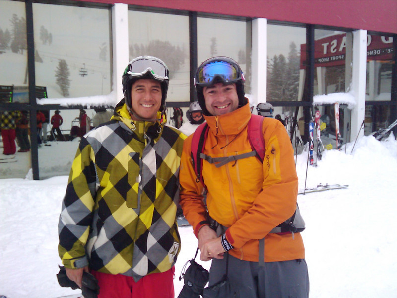 With Olympic champion skier Jonny Moseley at Squaw Valley