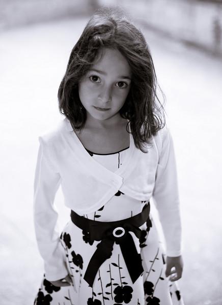 Rebecca before her big 1st grade event. Canon 5D