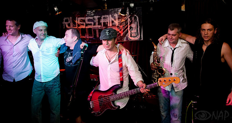 "From the CD release concert of the SF rock band ""Russian Solution""."