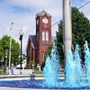 Fountain in the square, New Oxford, PA