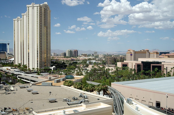 View from my hotel room at MGM Grand.